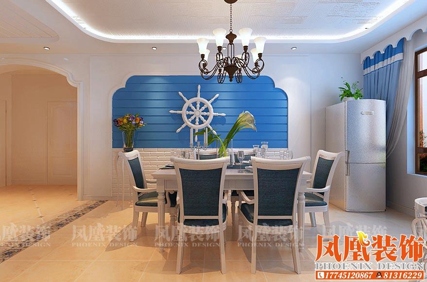 窗帘盒用半弧形的造型来打造地中海元素,客户也在设计师的帮助下选择